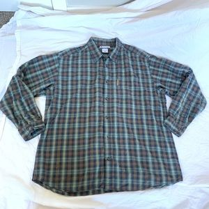 Men's Columbia Long Sleeve Flannel With Stains